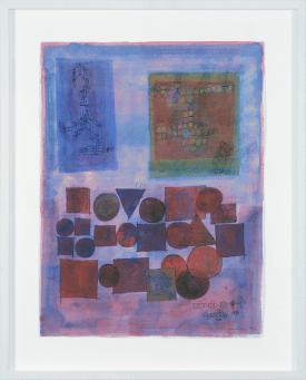 Clin d'art #157] Sans titre. 1990. Denis Juneau. Gouache sur papier. 85 x 69 cm 26 $ par mois pour un particulier (taxes incluses). © L'Artothèque. Tous droits réservés.