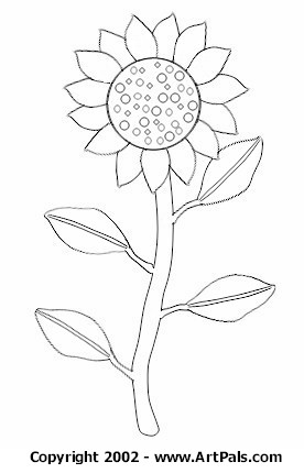 pin sunflower coloring sheet on pinterest