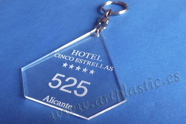 llavero personalizado para hoteles modelo diamante