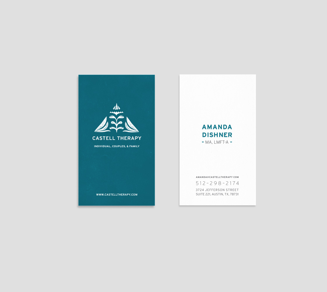 Jess Rose Clark Brand Design for Austin-based Family Counseling Practice, Castell Therapy