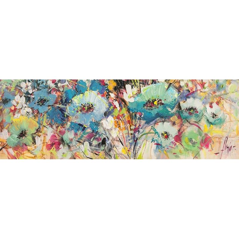 tableau moderne sur toile champ de fleurs au printemps ii det