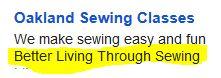 Better LivingThrough Sewing