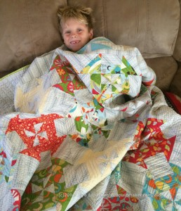 Pierce with quilt