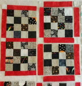 Sew sashing #8 to block #8