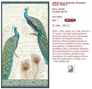 Majestic Beauties Peacocks Panel