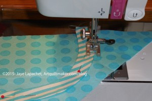 Sew carefully