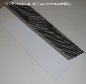 Fold square paper in half