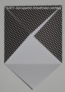 Fold corners into center