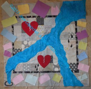 Art Quilt: Signs in process