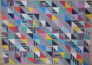 Ta Dots & Stripes HST Quilt Layout
