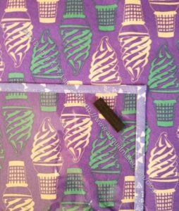 Crafty Gemini Sewing Machine Mat detail (in process)