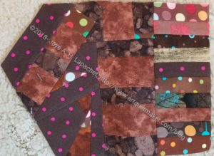 Color My Quilt: Marty - Brown made fabric