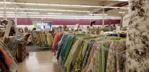 Mill End shop: quilting fabrics