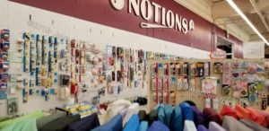 Mill End shop: notions