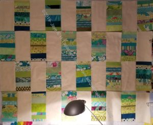 Green Strips Donation Quilt