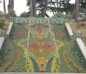 Steps near Katherine Delmar Burke