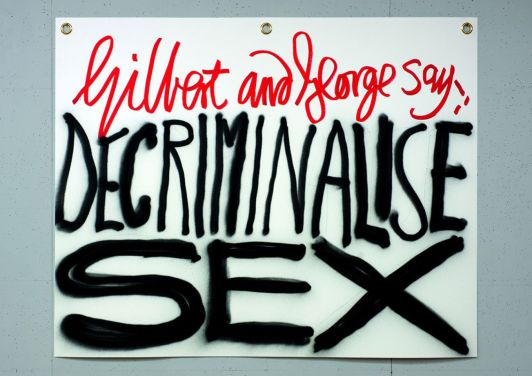 Gilbert and George. The Banners