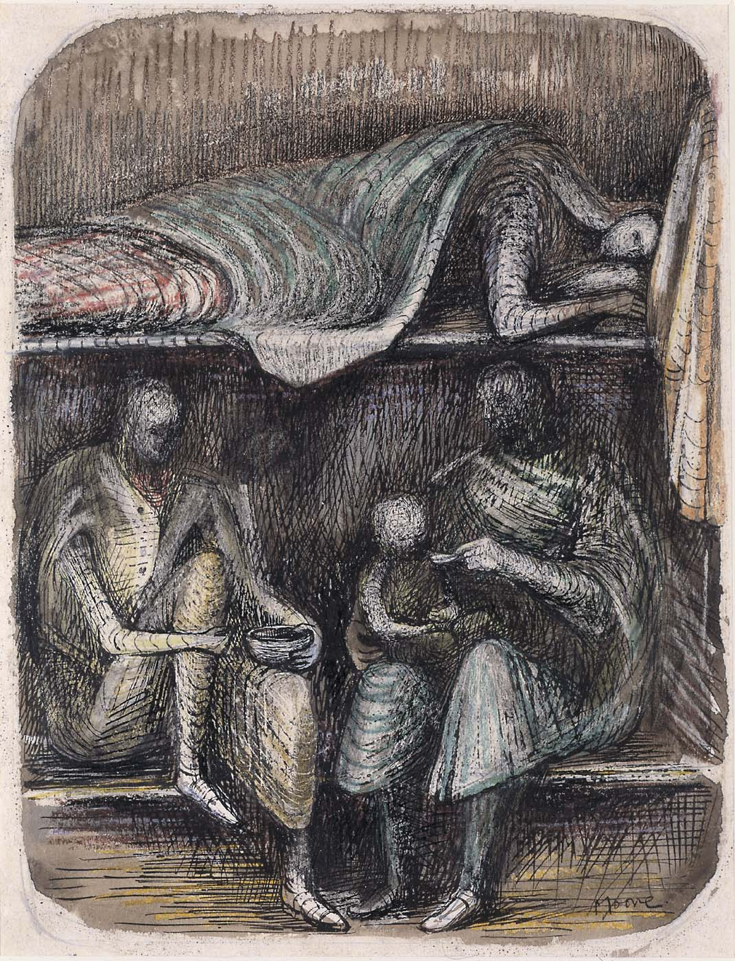 Henry Moore Paintings