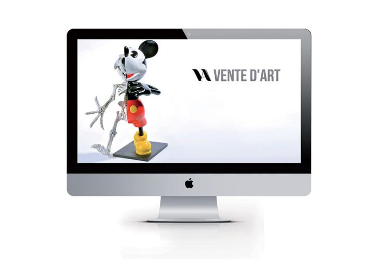 "iMac with ""Walking Micky"" - Nicolas Rubinstein"