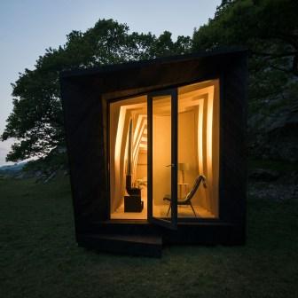 Cabane Arthur intérieur nuit