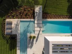QL House vue aérienne piscine