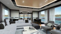 a-rendering-of-the-interior-shows-the-yacht-features-hardwood-floors-and-chocolate-brown-furniture