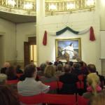 Augusto Gentili, Roman Opalka, Giandomenico Romanelli, Ludovico Pratesi durante la conferenza di apertura