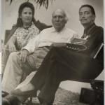 Salvador Dalì con Gala ed il padre, il notaio Salvador Dalí i Cusí - Batlles-Compte Barcelona