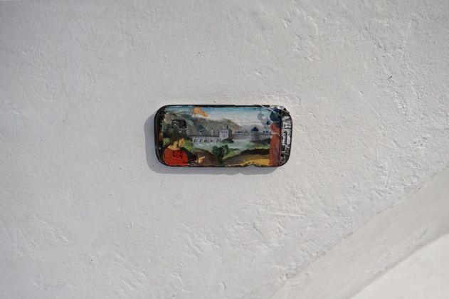 Luca Bernardello, Copia del Perugino su smartphone, 2017