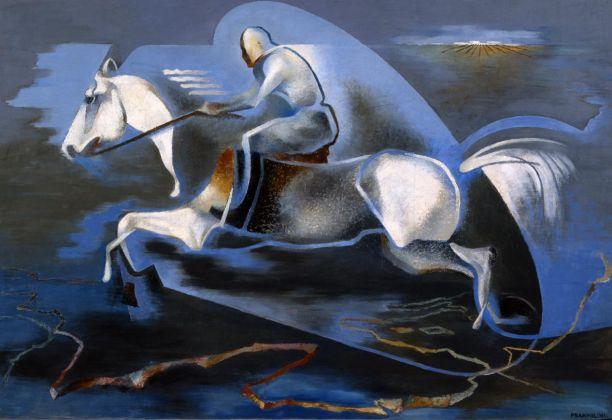 Enrico Prampolini, Dinamica dell'azione. Miti dell'azione. Mussolini a cavallo, 1939