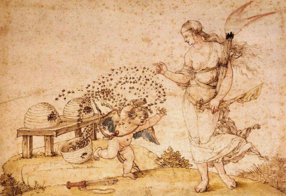 Albrecht Dürer, Cupid honey thief, 1514. Kunsthistorisches Museum, Vienna