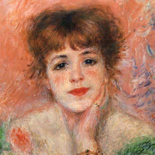 Ренуар портрет Жанны самари фрагмент