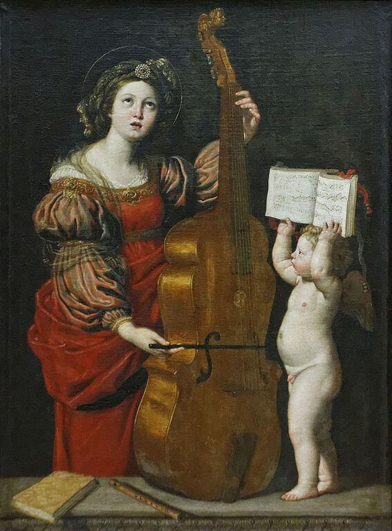 Доменичино святая Цецилия