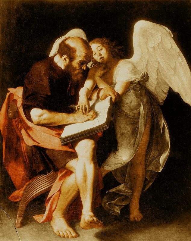 Караваджо святой Матфей и Ангел