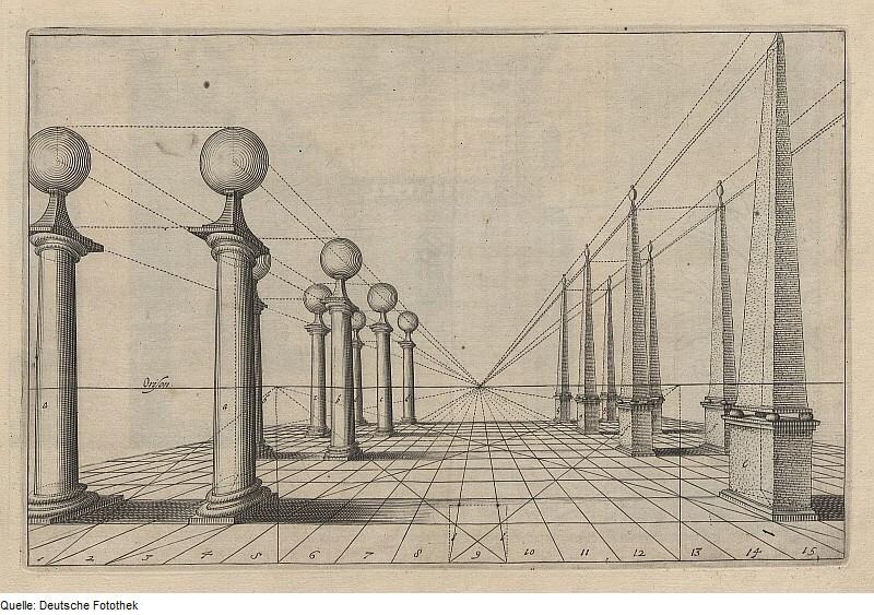 Ханс Вредеман де Врис. Рисунок из книги «Перспектива»
