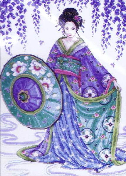 Garden Geisha Cross Stitch Kit By Design Works