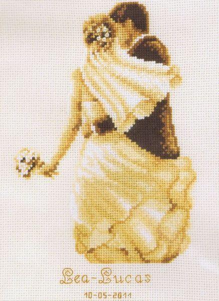 Wedding Couple Cross Stitch Kit By Vervaco