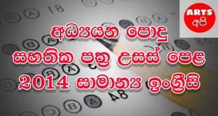 Advanced Level General English 2014 Paper