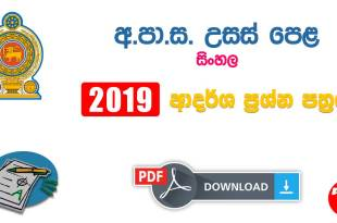 Advanced Level 2019 Sinhala Model Paper