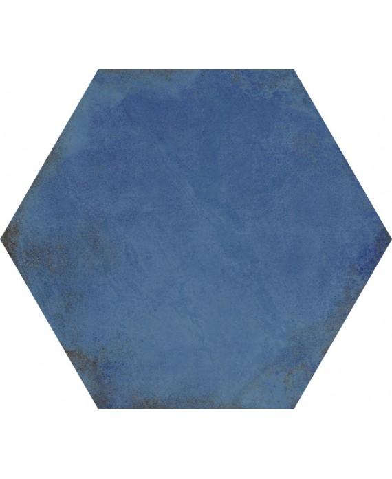 carrelage hexagone bleu fonce effet