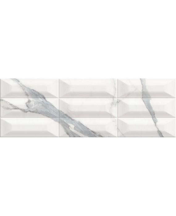 Carrelage Imitation Marbre Blanc Veine De Gris Metro 25x75cm Cultstatuario Brillant