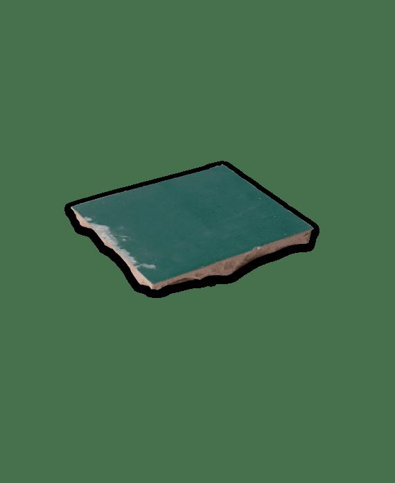 cuisine carrelage en terre cuite d vert