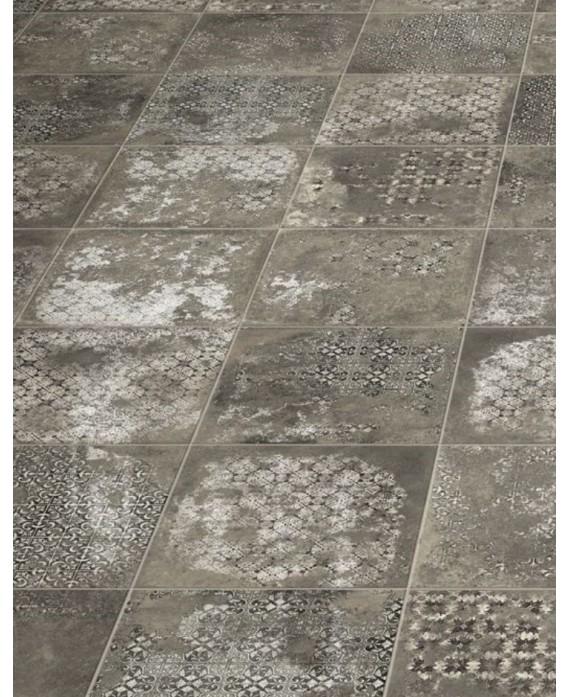 Carrelage Imitation Pierre Decoree 33x33cm Realantigua Graphite Decor Mat