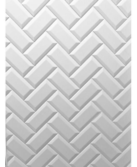 carrelage metro d blanc brillant 7 5x15cm
