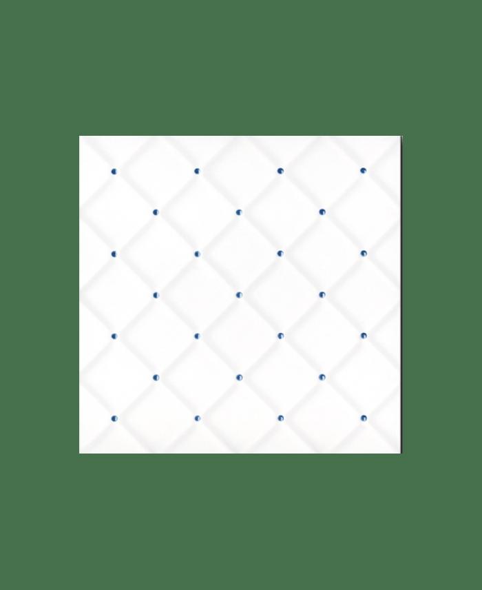 blanc brillant point bleu 20x20x0 6cm