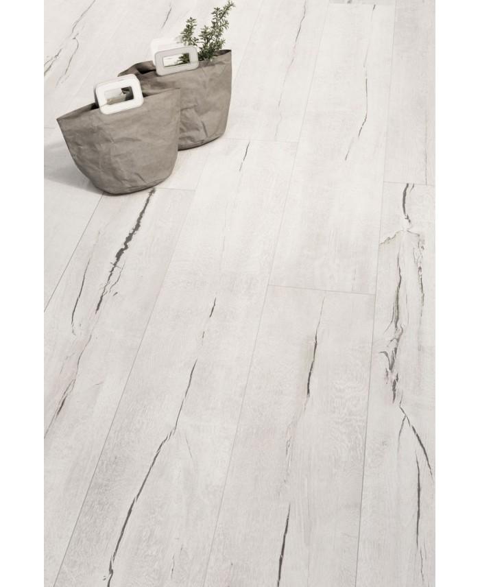 Carrelage Imitation Parquet Blanchi Vieilli Xxl 30x180cm Rectifie Santatimewood Blanc