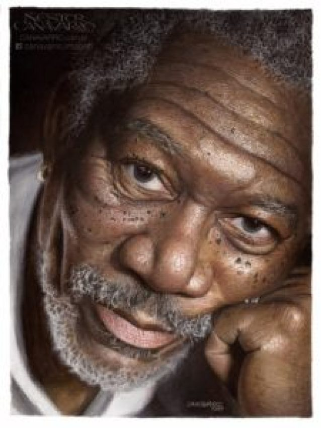 Morgan-Freeman-in-color-pencils
