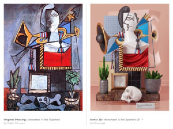 Picasso's works recreated 3D-3