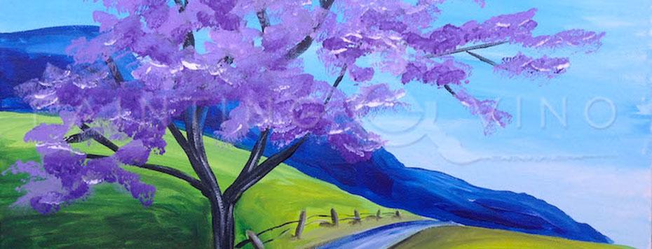 Painting and Vino: Jacaranda Tree