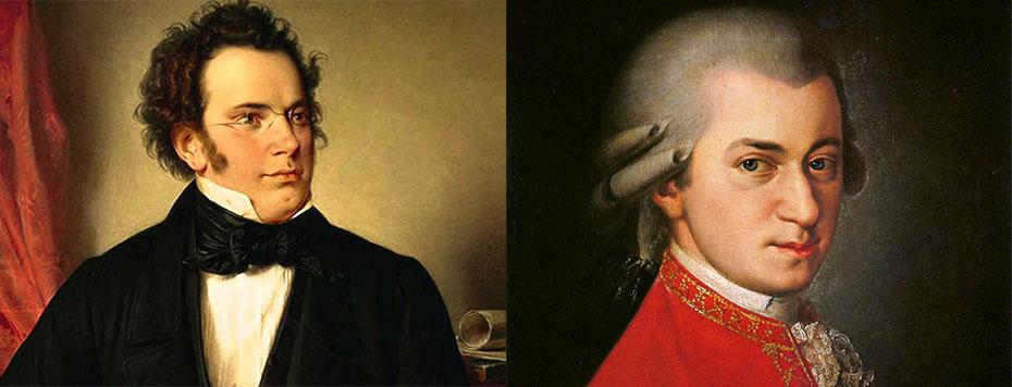 Schubert, Mozart